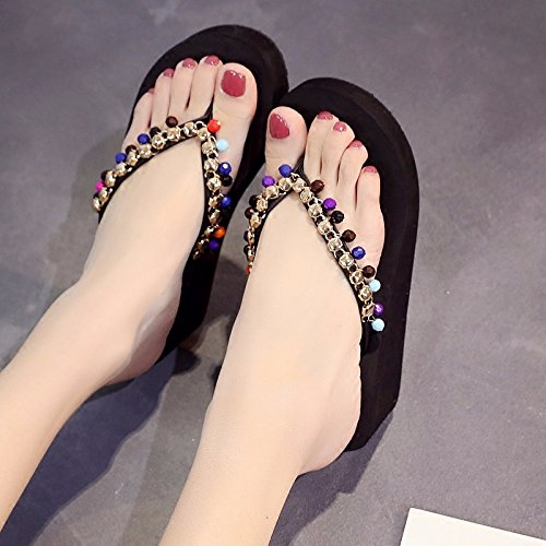 Mano abbigliamento alla fondo Nero scivolose scarpe casual spesso moda XIAOGEGE spiaggia pantofole pantofole 1xqX68dwd