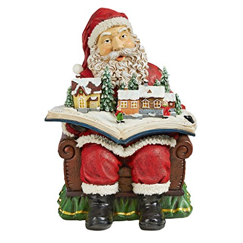 Christmas Decorations - Santa Claus Coming to Town Winter Wonderland Holiday Book ()