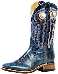 Boulet Womens Puma Turqueza Cowgirl Boot Square Toe - 4306