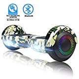 SWEETBUY Hoverboard Self Balancing Scooter 6.5'' UL2272 Certified Electronic Scooter (White-led)