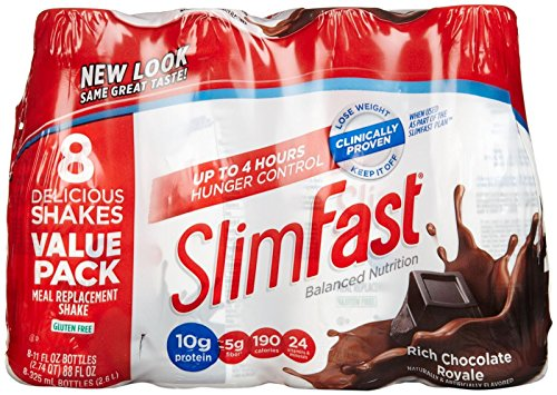 Slimfast Ready to Drink Shakes - Rich Chocolate Royale - 11 oz - 8 pk