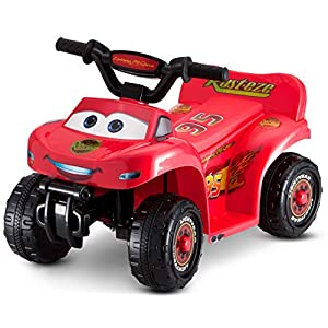 Kid Trax Toddler Disney Cars Quad Ride On Toy