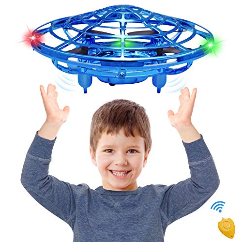 CPSYUB Hand Operated Mini Drone, Toys for Boys Age 6, Hands Free Kids Drone Toys for Age 4, 5, 6, 7, 8, 9, 10, 11, 12 Boys / Girls, Easy Flying Ball Drone for Kids Toys Gifts (Blue)