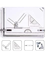 A3 Drawing Board Multi-Function College School Metric A3 Drawing Board Set Drafting Table,Drawing Tool Set Graphic Architectural Sketch Board with Parallel Motion and Adjustable Angle