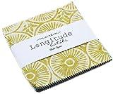 Longitude Batiks Charm Pack by Kate Spain; 42-5'' Precut Fabric Quilt Squares