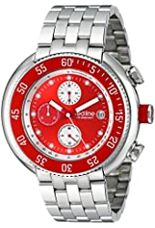 """red line Men's RL-50038-55 """"Driver"""" Stainless Steel Watch with Red Dial and Link Bracelet"""