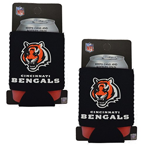 Official National Football League Fan Shop Authentic 2-Pack NFL Insulated 12 Oz Can Cooler (Cincinnati Bengals - Small Logo)