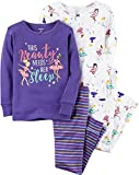 Carter's Baby Girls' 12M-24M 4 Piece Snug Fit Ballerina Pajamas, Purple, 18 Months