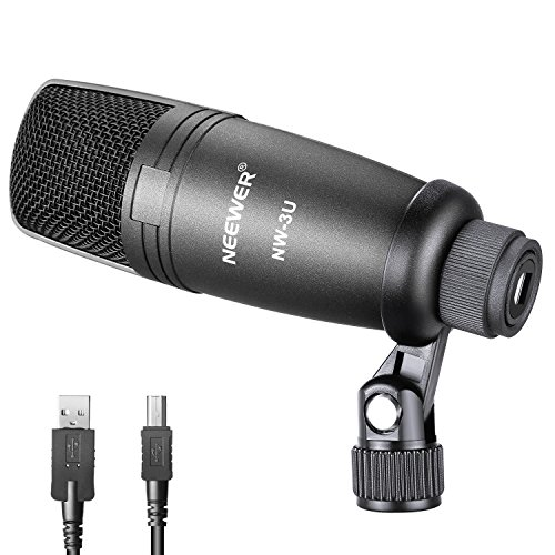 Neewer Vocal Condenser Microphone with Microphone Holder Swivel Mount and USB Cable for Broadcasting Studio Recording Online Singing Games Chatting Network Teaching Video Conferencing,Gray(NW-3U) - Eq Plug Vst In