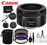 Canon EF 50mm f/1.8 STM Lens with Professional Bundle Package Deal Kit for EOS 7D Mark II, 6D Mark II, 5D Mark IV, 5D S R, 5D S, 5D Mark III, 80D, 70D, 77D, T5, T6, T6s, T7i, SL2