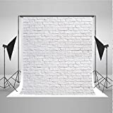 5x7ft White Brick Wall Photo Background Product Photography Backdrops Cloth Seamless Without Wrinkles