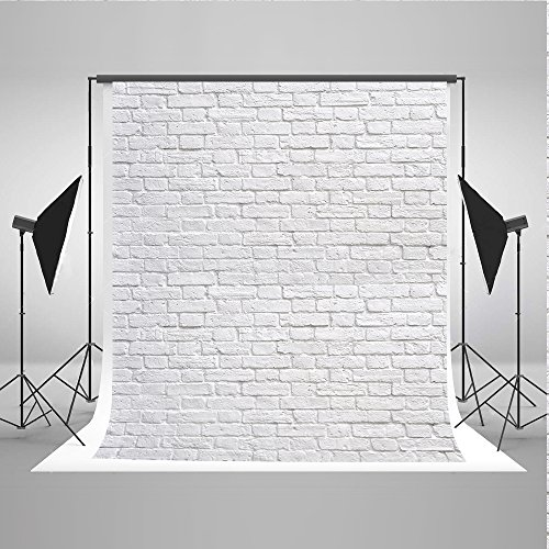 Kate 5x7ft White Brick Wall Photo Background Product Photography Backdrops Cloth Seamless Can be Washed -