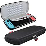Hard EVA Travel Case for Nintendo Switch by Hermitshell(Black)