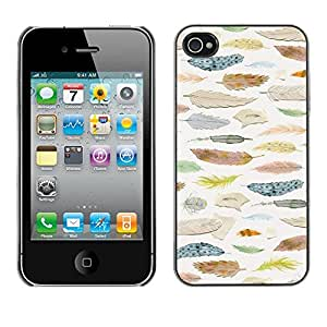 X-ray Impreso colorido protector duro espalda Funda piel de Shell para Apple iPhone 4 / iPhone 4S / 4S - Ornithology Selection