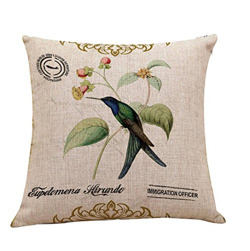 Pillow Cases,IEason Clearance Sale! Vintage Linen Cotton Fashion Throw Pillow Case Cushion Cover Home Sofa Decor (F)