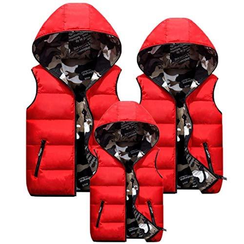 Warm Mode Duvet Imprim Zip Manches Taille Hiver Blouson Rouge Grande Gilet Vtements sans Vest Casual Camouflage Gilet en Capuchon Elgante Manteau Matelass Femme avec Quilting BwXq6p
