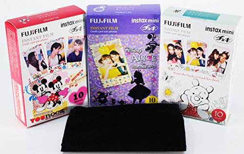 Alice-in-Wonderland-Disney-Pooh-and-Mickey-instax-mini-films-for-Fuji-instant-mini-cameras-set-of-3-packs-x-30-photos