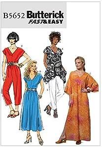 2 Tallas Grandes 17 x 0,5 x 22 cm Butterick Patterns 6559 ZZZ- T/única y caft/án para Mujer Multicolor