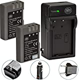 BM Premium 2 Pack of EN-EL9, EN-EL9A Batteries and Battery Charger for Nikon D5000, D3000, D60, D40x & D40 Digital SLR Camera