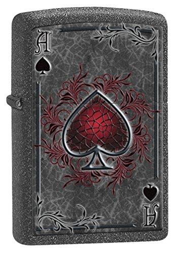 Zippo Lighter: Ace of Spades - Iron Stone