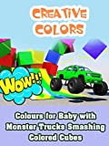 Colours for Baby with Monster Trucks Smashing Colored Cubes