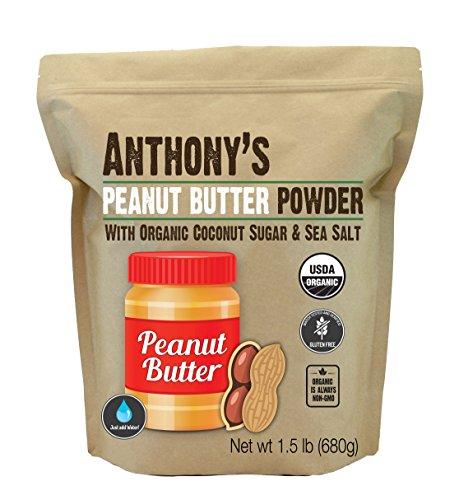 Anthony's Organic Peanut Butter Powder (1.5lb), with Coconut Sugar & Sea Salt - Organic Peanut Flour
