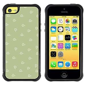 Pulsar iFace Series Tpu silicona Carcasa Funda Case para Apple iPhone 5C , Motif Shape Olive Wallpaper
