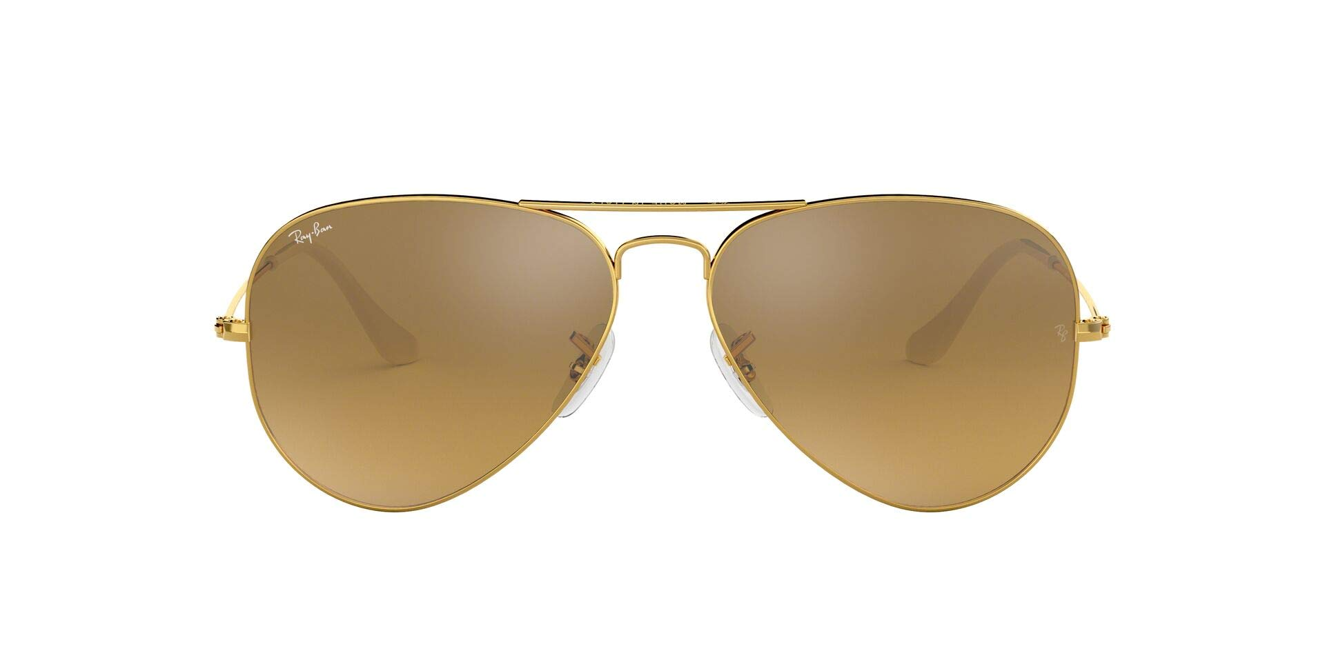 RAY-BAN RB3025 Aviator Large Metal Sunglasses, Gold/Brown Mirror Gradient, 62 mm by RAY-BAN