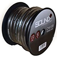 SoundBox Connected 0 Gauge Black Amplifier Amp Power/Ground 1/0 Wire 50 Feet SuperFlex Cable 50 Spool