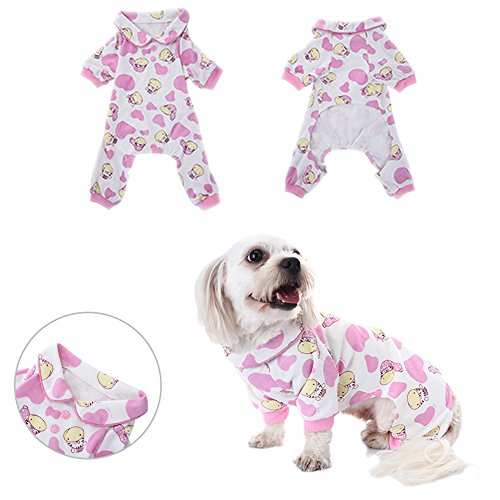 Dog Pajamas Sleep Clothes Cozy Puppy Doggy Home Wear Pet Dog Cat Zebra Pattern Cotton Leisure&Durable Jumpsuit by Awtang S