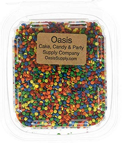 Edible Confetti Sprinkles Cake Cookie Cupcake Quins Primary Sequins 8 ()