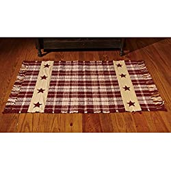 Burgundy Farmhouse Star Rug