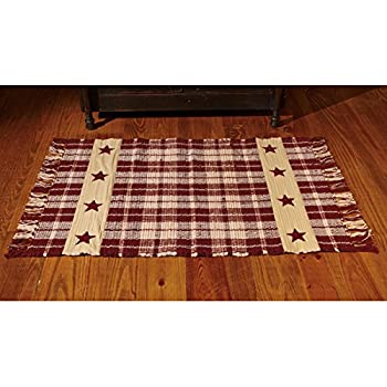 Amazon Com Primitive Country Hearts And Stars Accent Rug