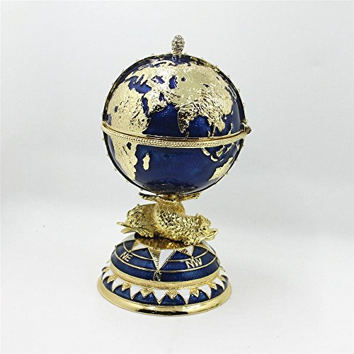Egg Design Box for Shinny Jewellery Box Trinket Gift Box Tellurion Pattern Faberge Egg 2017 Decorative Faberge Egg / Trinket Jewel Box The Globe and Ship