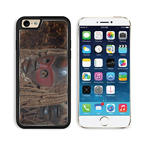 MSD Premium Apple iPhone 6 iPhone 6S Aluminum Backplate Bumper Snap Case Image ID 24235835 scary mask wooden African hand made - Scary Japanese Mask
