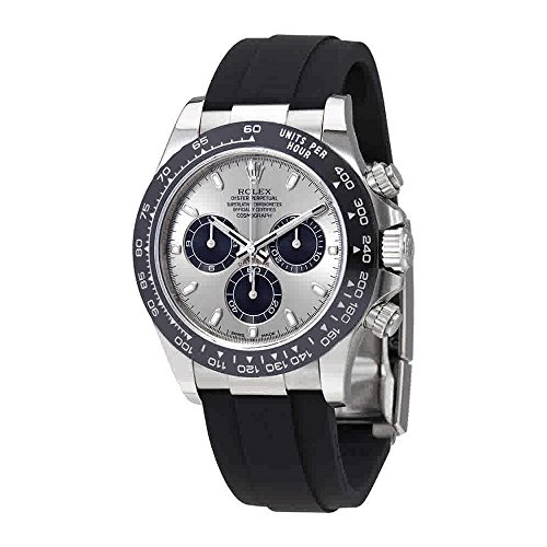 (Rolex Oyster Perpetual Cosmograph Daytona 18K White Gold Mens Chronograph Watch 116519LN)