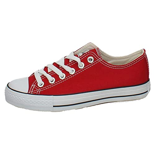 ANDY Z CA01 Bambas Lona ROJA Mujer Zapatillas Rojo 38: Amazon.es: Zapatos y complementos