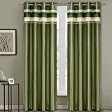 Milan Sage Top Grommets Blackout Multiple layers Fabric, Window Curtain Panels, 54x84 inches Single Panel, by Royal Hotel