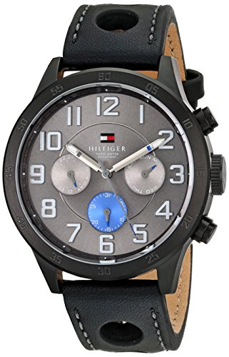 Tommy Hilfiger Men's 1791051 Stainless Steel Watch with Black Band