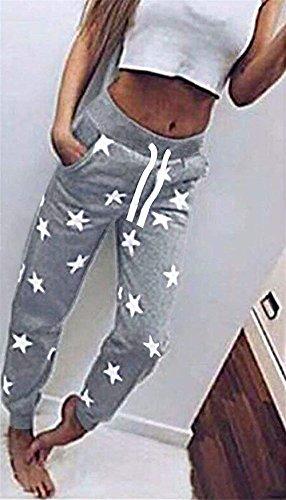 Del Vita Pantaloni Stella Donna Grazioso Elastica Sportivi Stampato Grau Sciolto Pigiama Women Con Pantaloni Accogliente Coulisse Fashion Tuta Pantaloni Casual Eleganti Giovane Pantalone Sportivi Training q1x5XtwnR