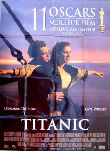Amazon Com Titanic Movie Poster 27 X 40 Inches 69cm X 102cm 1997 French Kate Winslet Leonardo Dicaprio Billy Zane Kathy Bates Frances Fisher Gloria Stuart Prints Posters Prints