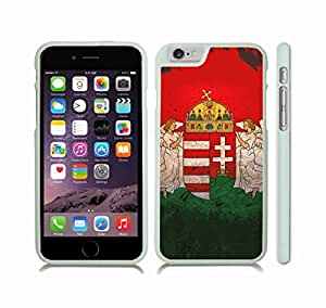 iStar Cases? iPhone 6 Case with Hungary Flag Grunge Look Design , Snap-on Cover, Hard Carrying Case (White)