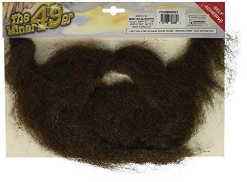 Forum Novelties Beard Moustache Brown