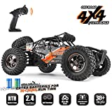 RC Cars Protector 1/12 Scale 4WD Off-Road Buggy 38+KM/H High Speed LED Lights, 2.4 GHz Radio Controlled All Terrain Waterproof Trucks RTR Electric Power Rechargeable Batteries 7.4 V 1500 mAh