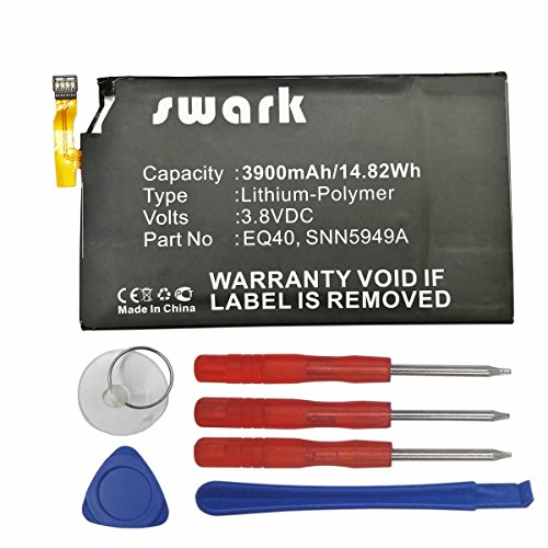 Swark EQ40 Replacement Batteries Compatible with Motorola Droid Turbo, Droid Turbo LTE, XT1254, Quark, XT928, XT885, fits Motorola EQ40, SNN5949A 3900mAh High-Capacity + Tools