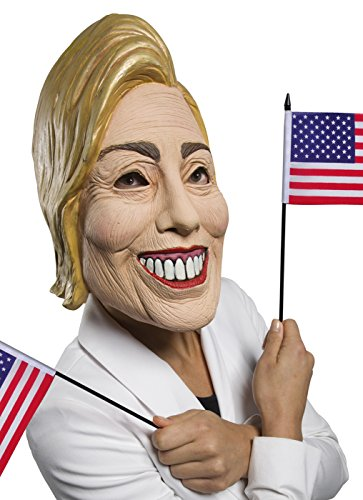 Rubie's Women's Famous Faces Political Mask Hillary, As As Shown, One Size -