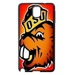 Hard Plastic Cover 2 NCAA PAC-12 Oregon State Beavers Print Black Case With Hard Shell Cover for Samsung Galaxy Note 3