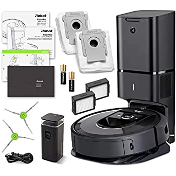 Amazon.com - iRobot Roomba i7 (7150) Robot Vacuum Bundle- Wi-Fi ...