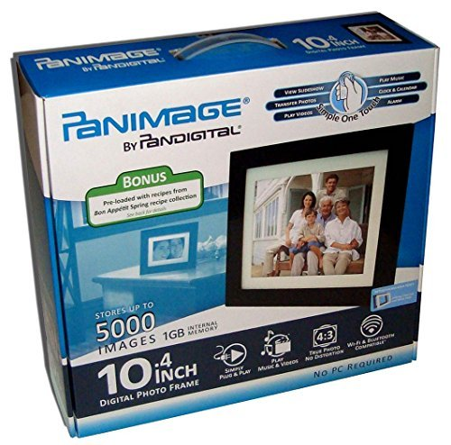 Panimage PI1051DWCB 10.4-Inch Digital Picture Frame (Espresso) by PanImage
