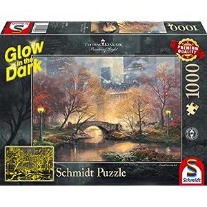 Schmidt Spiele 59496 Puzzle Da 1000 Pezzi Thomas Kinkade Central Park In Autunno Glow In The Dark